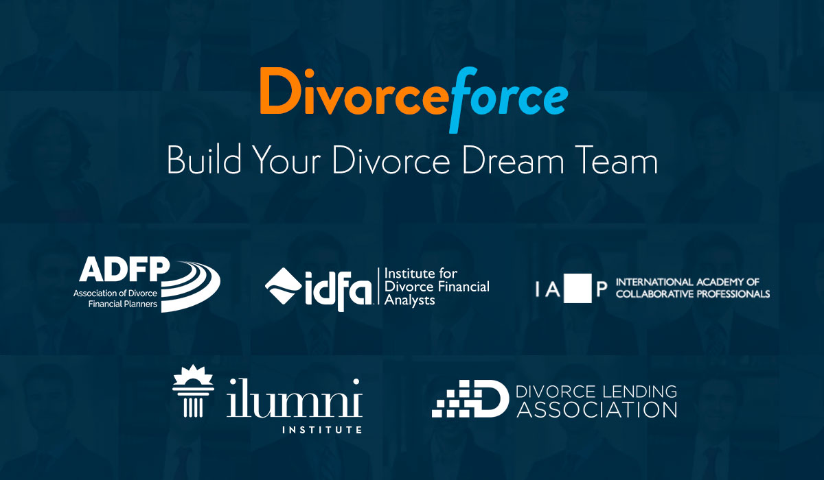 Build your Divorce Dream Team collage of association logos